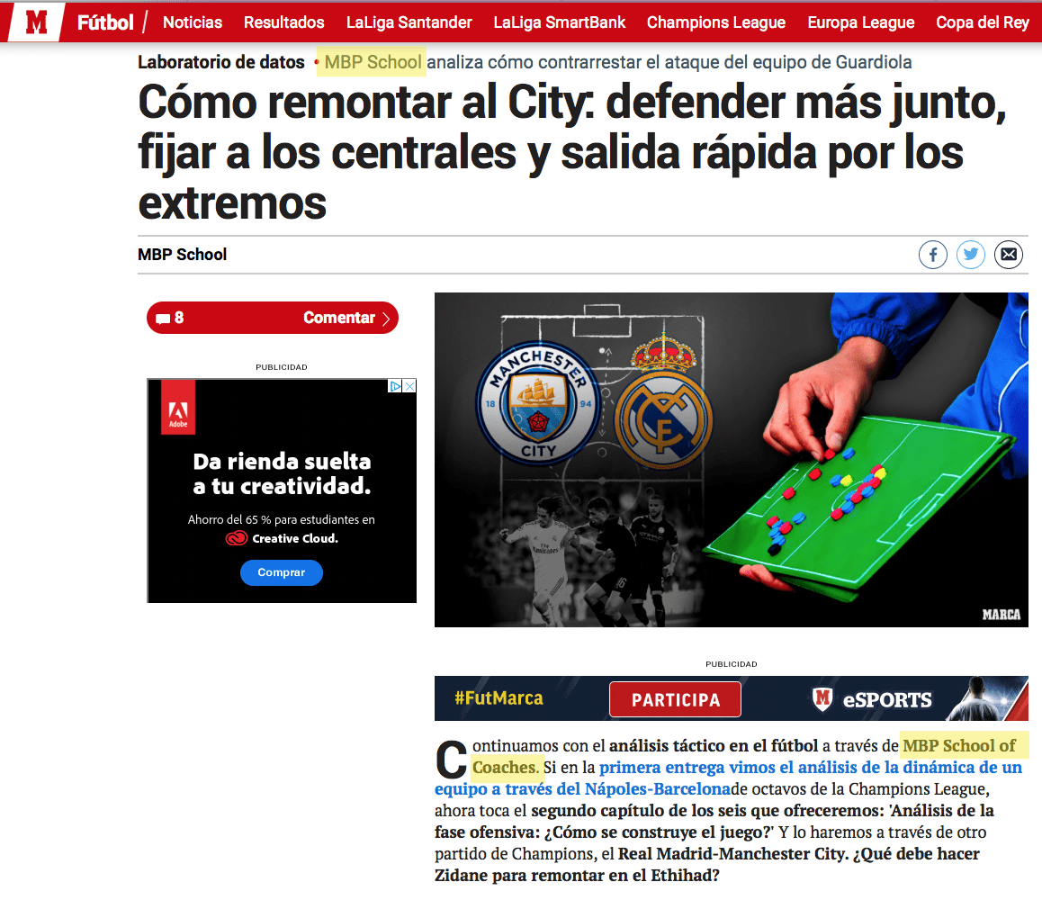 Manchester City Prensa MBP School of coaches